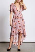Cotton Candy Plunging Floral Maxi