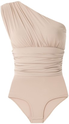 AMIR SLAMA Ruched Panel Body Top