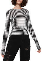 Topshop Striped Slubby T-Shirt by Boutique