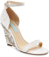 Betsey Johnson Alisa Embellished Wedge Sandal
