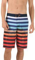 Speedo Men's Paradise Striped Brushed Microfiber 4-Way Stretch E-Board Shorts