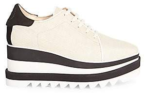 Stella McCartney Women's Elyse Platform Wedge Oxford Loafers