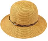 Cloche C.C Women's Sunhats natural - Natural Snake-Accent Straw