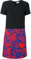 Carven slit neck shift dress - women - Silk/Polyester/Acetate - 38