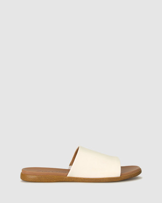 Zeroe - Women's White Sandals - Sofia Flat Mule Sandals - Size One Size, 7 at The Iconic