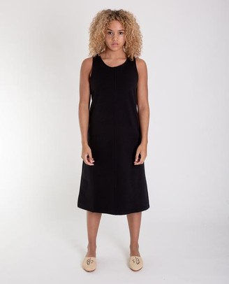 Beaumont Organic Marley Organic Cotton Dress In Black - Black / Large