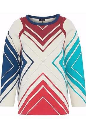 Anya Hindmarch Paneled Neoprene And Cotton-Terry Sweatshirt