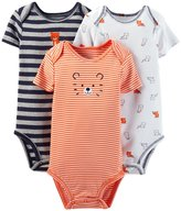 Carter's Just One You Baby Boys' 3 Pack Bodysuits, Gray/, 12M