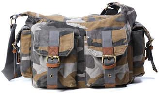 Tsd Brand Camo Canvas Messenger Bag