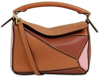 Loewe MINI PUZZLE COLOR BLOCK LEATHER BAG