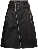 SET Leather Buckle Skirt