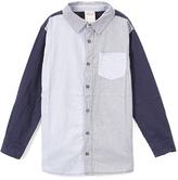 Smiths American Black Colorblock Oxford Button-Up - Toddler & Boys