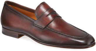 Magnanni Men's Boltiarcade Caoba Leather Loafers