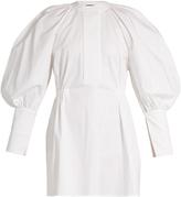 Ellery Medusa bubble-sleeved stretch-cotton mini dress