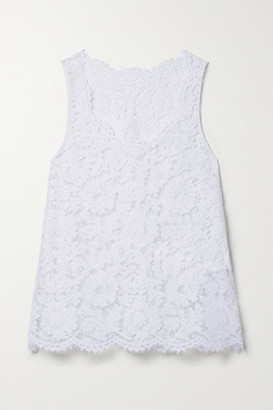 Valentino Scalloped Corded Lace Tank - White