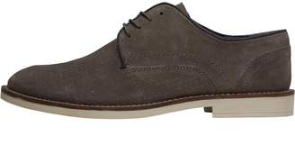 Onfire Mens Suede Shoes With Perforated Vamp Grey