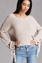 Forever 21 FOREVER 21+ Fate Lace-Up Sweater