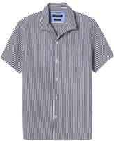 Banana Republic Camden Standard-Fit Cotton-Stretch Short-Sleeve Stripe Oxford Shirt