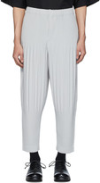 Issey Miyake Homme Plisse Grey Wide Pleats Trousers