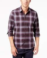 Ryan Seacrest Distinction Ryan Seacrest DistinctionTM Men's Gray/Port Plaid Pocket Shirt, Created for Macy's