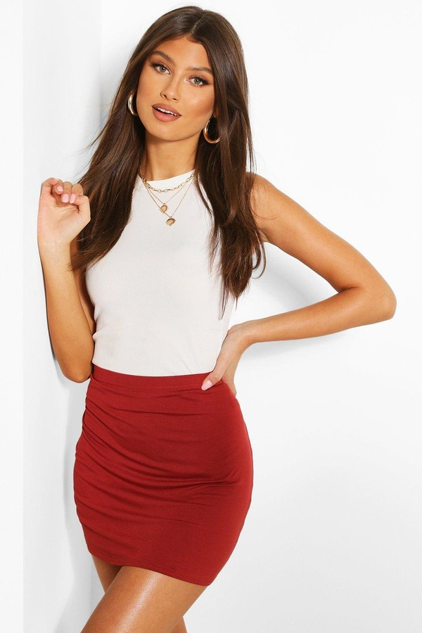 Thumbnail for your product : boohoo Basic Jersey Mini Skirt