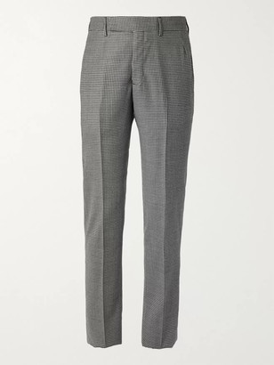 Gabriela Hearst Ernest Slim-Fit Tapered Houndstooth Virgin Wool And Cashmere-Blend Suit Trousers