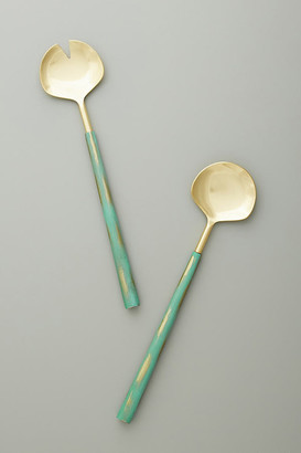 Anthropologie Eden Serving Set By in Green Size SET OF 2