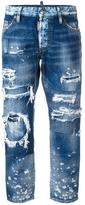 DSQUARED2 ripped Boyfriend jeans - women - Cotton - 36