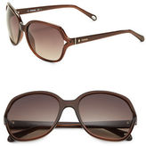 Fossil 58mm Round Sunglasses