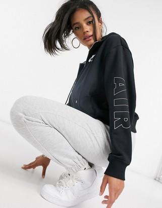 Nike zip-through hoodie in black