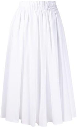 Marni Gathered Waist Midi Skirt
