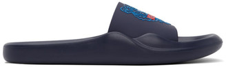 Kenzo Navy Tiger Head Pool Mules