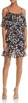 Aqua Cold-Shoulder Floral Print Dress - 100% Exclusive
