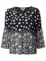 Suno floral v-neck blouse