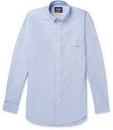 Drakes Drake's - Easyday Slim-fit Button-down Collar Cotton Oxford Shirt - Blue