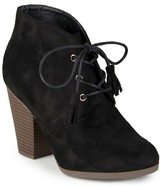Journee Collection Women's Wen Faux Suede Lace Up Booties