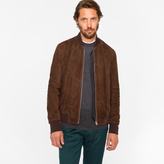 Paul Smith Men's Brown Suede Bomber Jacket