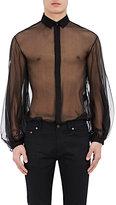 Saint Laurent Men's Sheer Silk Chiffon Shirt