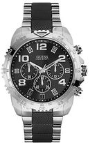 GUESS Mens Masculine Texture and Style Steel Bracelet Watch