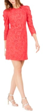 Vince Camuto Statement-Sleeve Lace Dress