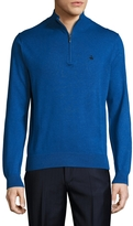 Brooks Brothers Men's Supima Cotton Solid Half Zip Sweater