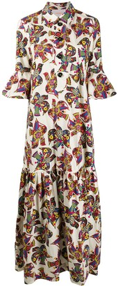 La DoubleJ Artemis dove print dress