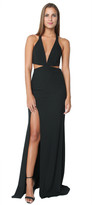 Mason by Michelle Mason Cut Out Plunge Gown