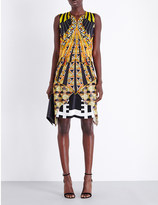 Givenchy Geometric-print silk-satin dress