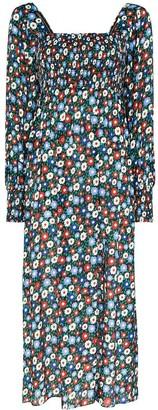 Rixo Marie floral print midi dress