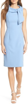 Harper Rose Drape Tie Neck Sheath Dress