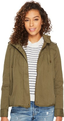 Lucky Brand Women's Raw Edge Military Jacket