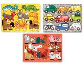 Melissa & Doug Kids' 3-Pk. Mix N' Match Peg Puzzle Bundle