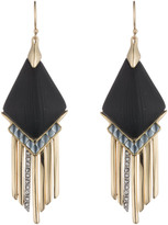 Alexis Bittar Cabochon Chevron Fringe Earring