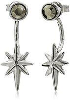 "Judith Jack Starry Night"" Sterling Silver/Swarovski Crystal Star Wrap Stud Earrings"